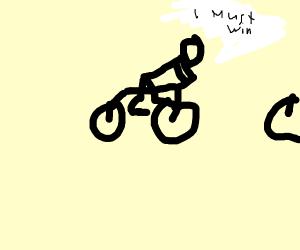 Dude must win bike race