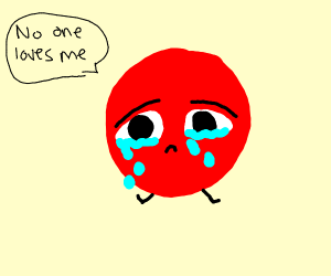 no one loves the red ball :(