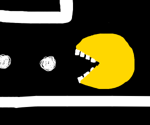 Pac man with teeth