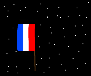 French flag in space