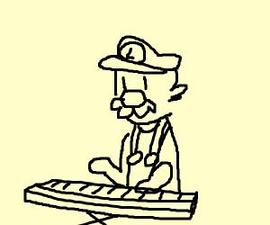 Luigi playing piano