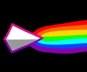 Prism shooting rainbows