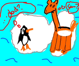 penguin questions his father