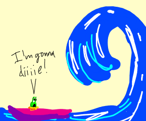 a snail is going to die surfing