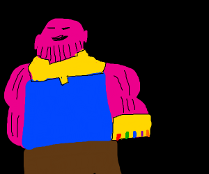 Thanos is pink