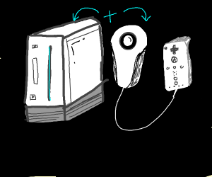 wii console and remote