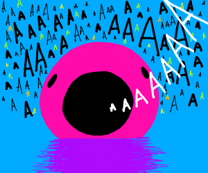 Pink blob screaming