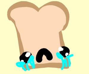 Undercooked toast