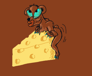Teddy mounting Cheese