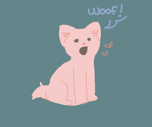 Pink little woof boi