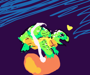 kindly turtle asks to hug a bean