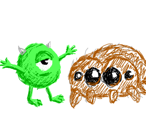 Mike wazaoski and Lucas the spider