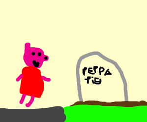 Peppa Pig and her grave