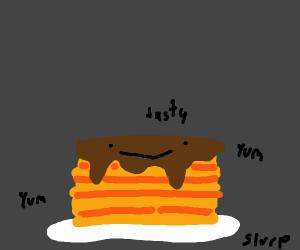 Those pancakes look tasty!