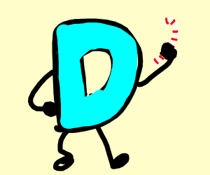 drawception logo holding a peppermint