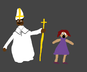 Girl scared by Neil degrasse tyson pope