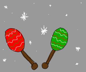 christmas maracas