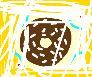 chocolate donut with white sprinkles