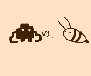 Spaceinvaders vs bees