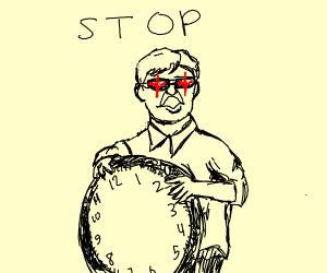grumpy man says stop now
