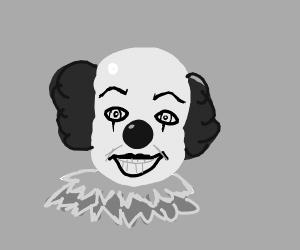 it (clown) in the rain