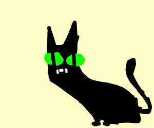 the batman demon cat