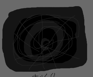 A television that sees into the void