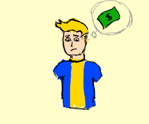 Vaultboy crying because he'll never be rich