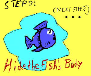 Step 9 hide the fish's body