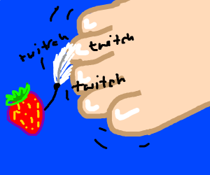strawberry tickles toe