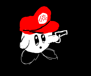 kirby and mario hat with guns