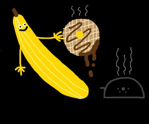 The one where a banana makes waffles.