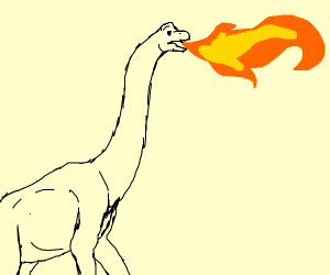 Brachiosaurus breathes fire