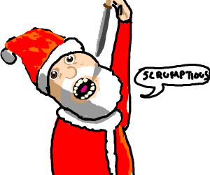 Santa eating a Knife