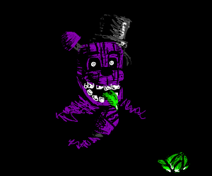 shadow freddy (from fnaf) eats lettuce