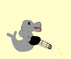 dolphin with a minigun