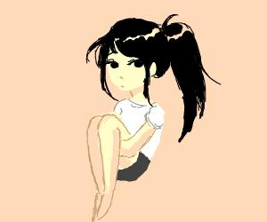 An Anime Girl with A High Ponytail