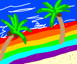 Gay pride beach