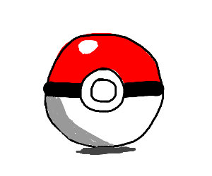 A pokeball going into the battle