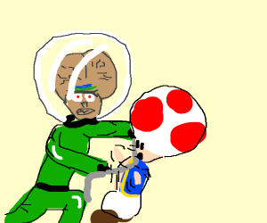 Martian strangles mushroom with barbed wire