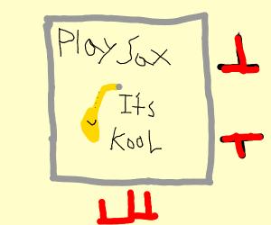 saxaphone poster