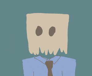 Business Man Too Ashamed To Show His Face