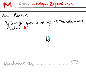 big f-ing email attachment