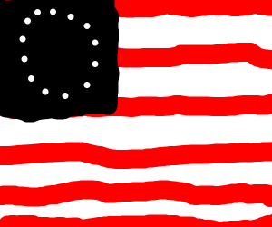 It must be black or blue on this flag?!
