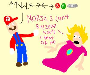 mario cheats on the princess