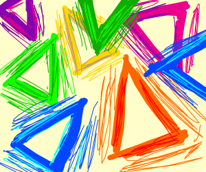 too many colourful triangles