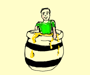 Person in honey