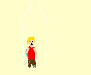 a dude in a bottle