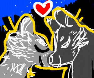 2 Wolfs In Love Under Night