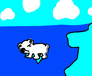 Angery polar bear